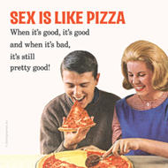 Underlägg Retro: Sex is like pizza